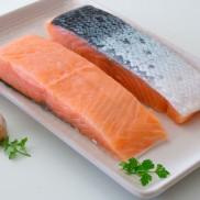 Salmón chileno porción (~200) bolsa 1 kg.